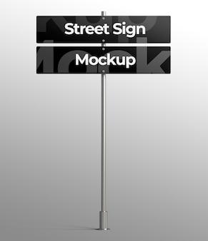 Изолированный 3d макет уличного знака для рекламы или брендинга