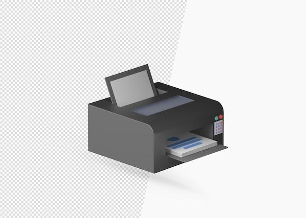 격리 된 3d 프린터 모델