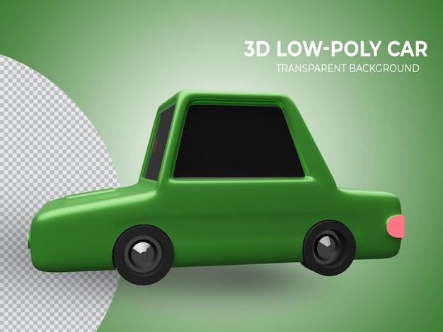 격리 된 3d 렌더링 된 귀여운 애니메이션 자동차