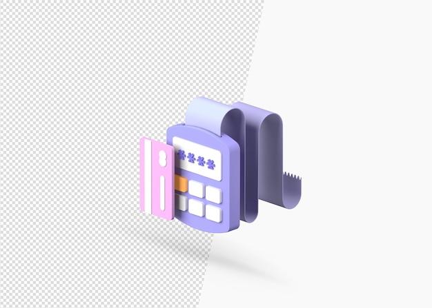 Изолированные 3d-рендеринга концепции способов оплаты