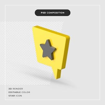 Изолированные значок звезды 3d