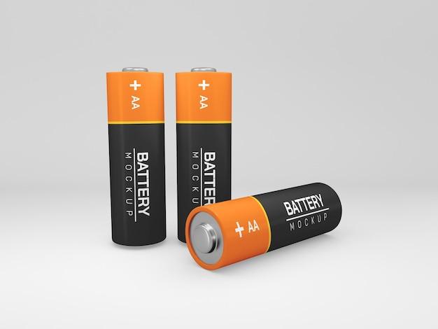 Mockup di batteria aa isolata