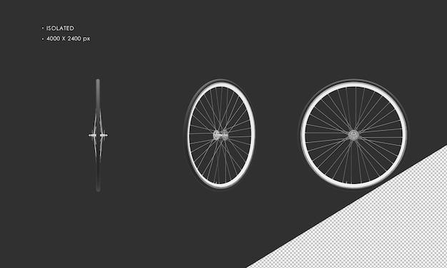 分離された自転車の自転車のホイールのリムとタイヤ Premium Psd