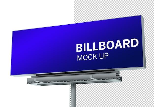 Изолированные рекламный щит 3d-рендеринга макет