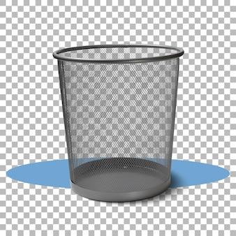 Изолированная черная корзина с прозрачностью