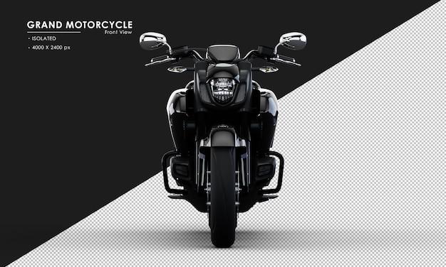 전면보기에서 고립 된 검은 그랜드 오토바이