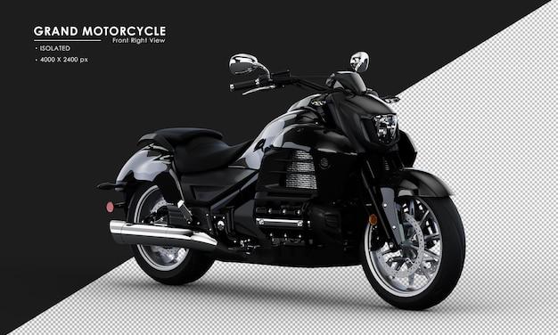 Изолированные черный большой мотоцикл в 3d-рендеринге