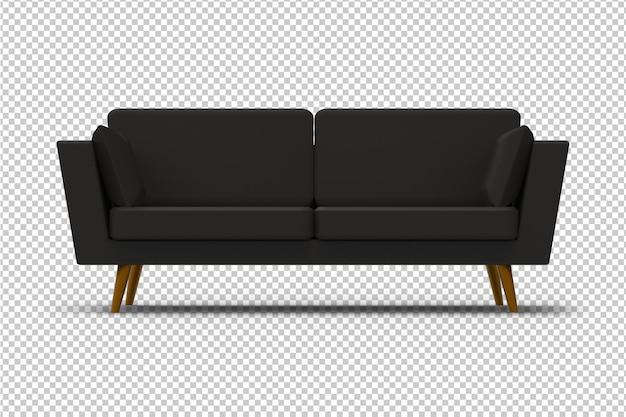 Изолированный черный диван