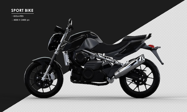 左側面図から分離された黒いスポーツバイク