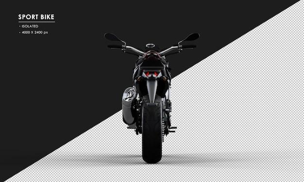 背面から分離された黒いスポーツバイク
