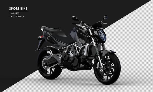 右正面から分離された黒いスポーツバイク