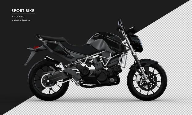 右側面図から分離された黒いスポーツバイク