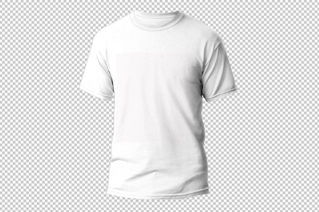 Isolated black t-shirt front