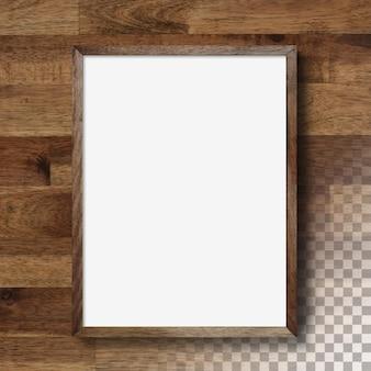 Изолированные пустая фоторамка на стене