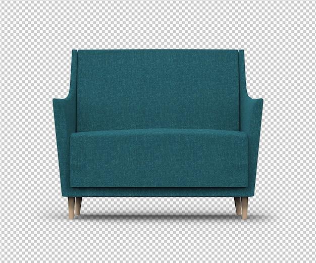 Изолированное голубое кресло