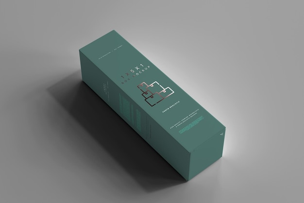 Isolated box mockup
