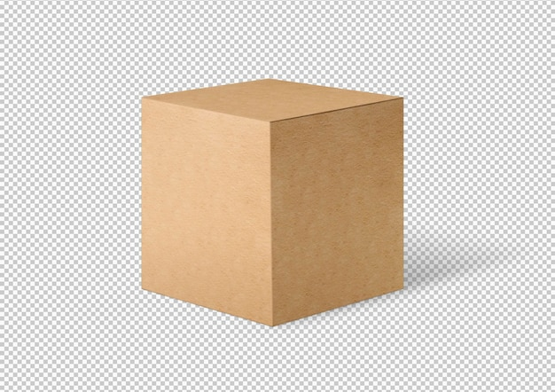 Изолированная картонная коробка