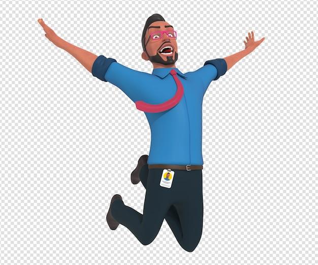 Isolated character illustration of businessman cartoon mascot