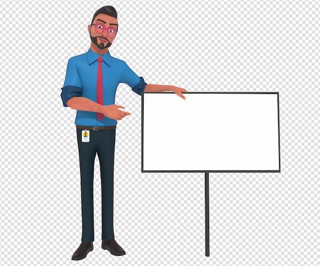 ビジネスマン漫画マスコットの孤立したキャラクターイラスト