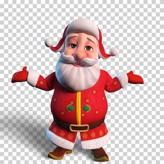 Изолированная иллюстрация характера печального санта-клауса для рождественского дизайна