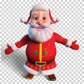 Изолированные характер иллюстрации санта-клауса для рождественского дизайна