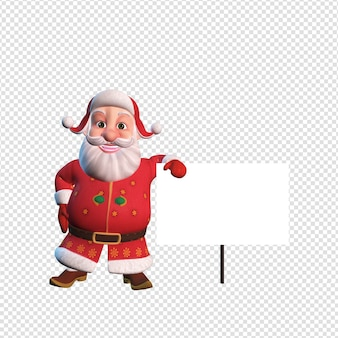 Isolated character illustration of santa claus standing