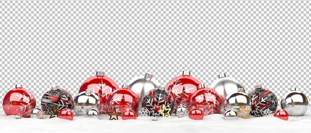 雪の上に並んで孤立したクリスマスつまらない
