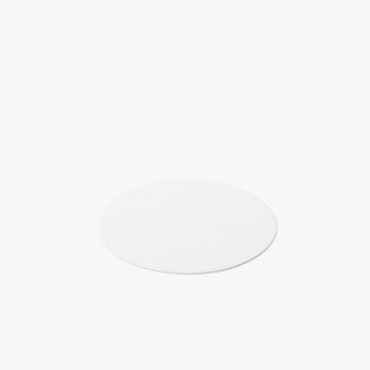 Forma di tappeto cerchio isolato