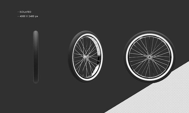 分離されたクラシックバイク自転車のホイールリムとタイヤ Premium Psd