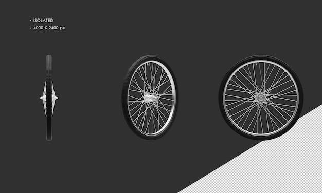 分離されたクラシックバイク自転車のホイールリムとタイヤ