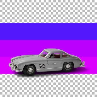 孤立したクラシックモデルカー