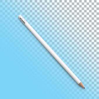 Изолированные крупным планом белый карандаш