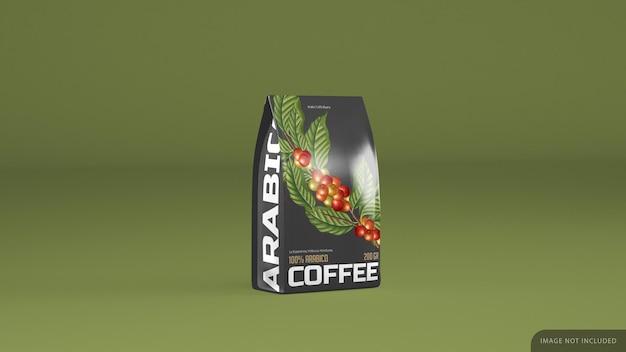 격리 된 커피 팩 모형