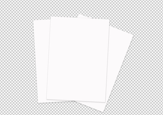 Isolated collection of paper sheets
