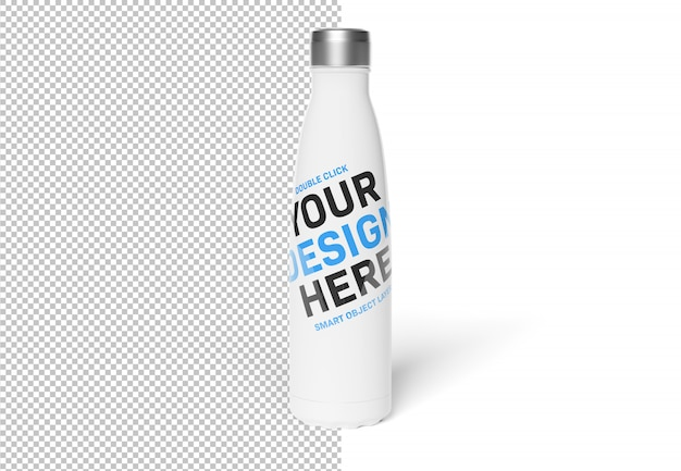 Isolated cut out sport bottle on white mockup