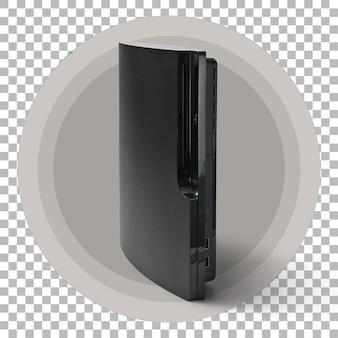 Изолированные темно-черный игровой консоли на прозрачном фоне