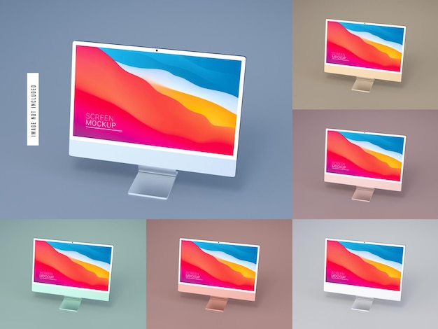 Isolated desktop screen mockup