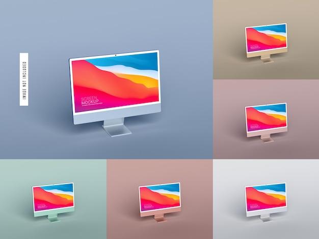Изолированный макет экрана рабочего стола