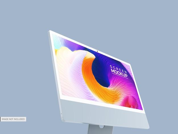 Modello di schermo desktop isolato Psd Gratuite