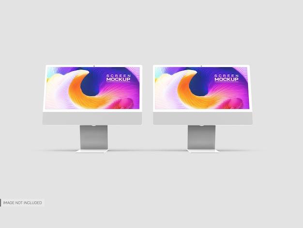 分離されたデスクトップ画面のモックアップ