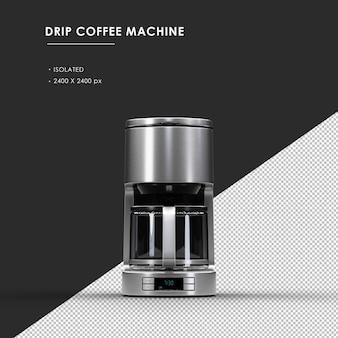 전면보기에서 절연 된 드립 커피 머신