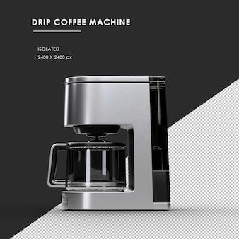 왼쪽보기에서 절연 된 드립 커피 머신