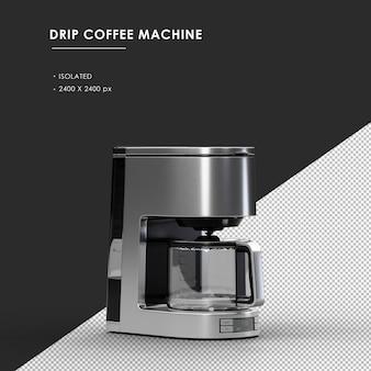 오른쪽 전면보기에서 절연 된 드립 커피 머신