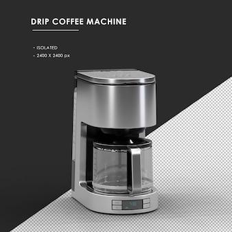 상단 전면 왼쪽 각도보기에서 절연 된 드립 커피 머신
