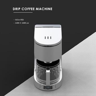 상단 전면보기에서 절연 된 드립 커피 머신