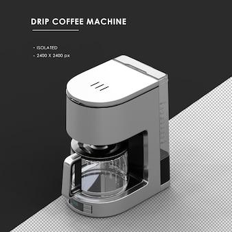 왼쪽 상단 전면보기에서 절연 된 드립 커피 머신