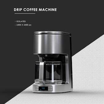 상단 직각보기에서 절연 된 드립 커피 머신