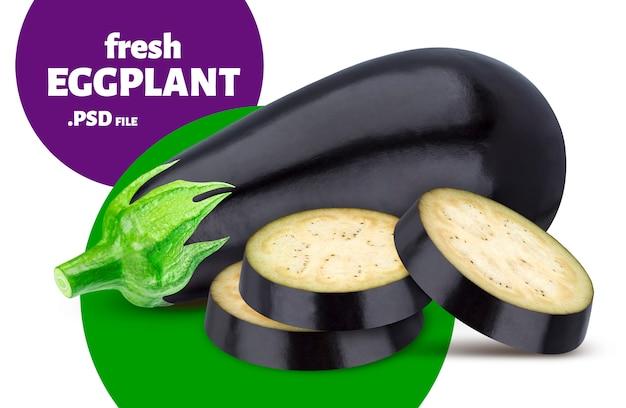 Isolated eggplant, aubergine vegetable banner
