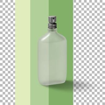 孤立した空の香水瓶