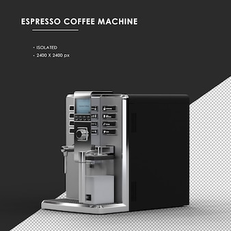 왼쪽 전면보기에서 절연 된 espesso 커피 머신